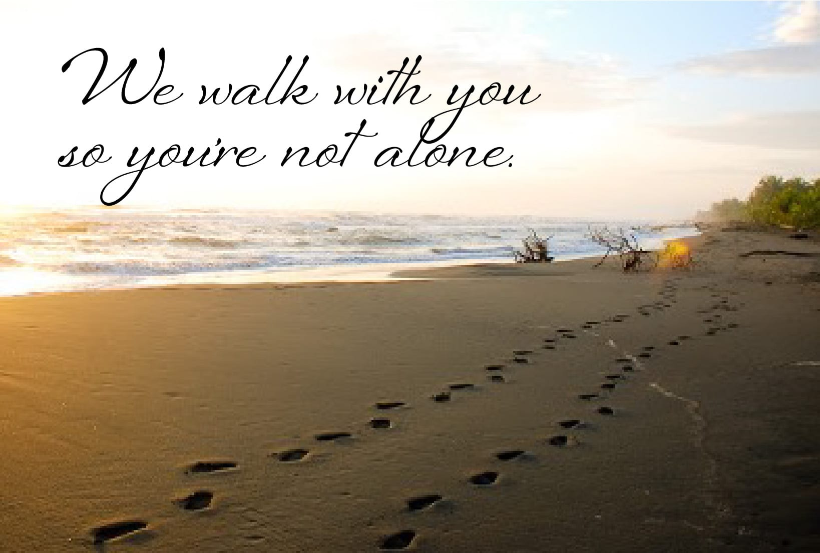 we walk with you so you're not alone.